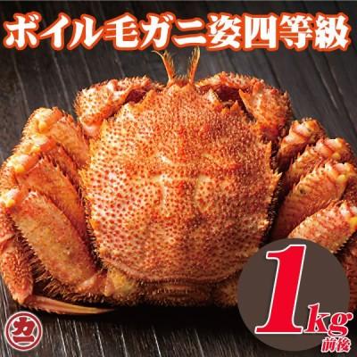 送料無料 #元気いただきますプロジェクト 北海道産 毛がに姿 4特等級 1kg前後 1尾入 ボイル 冷凍