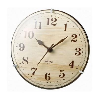 ノア精密 MAG 電波置掛両用クロック 時計 W-731 N-Z ナチュラル