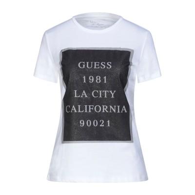 ゲス GUESS T シャツ ホワイト XS コットン 93% / ポリエステル 7% T シャツ