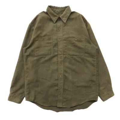 フェイクスウェードシャツ 長袖 オリーブグリーン サイズ表記:--