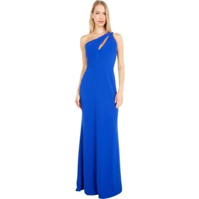 ベベ Bebe レディース パーティードレス ワンピース・ドレス Scuba Crepe Long One Shoulder Gown Cobalt