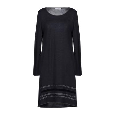 WHYCI ミニワンピース&ドレス ダークブルー 48 ウール 100% ミニワンピース&ドレス