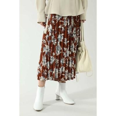 ROSE BUD / ローズ バッド ベルトデザインプリーツスカート