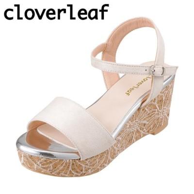 クローバーリーフ cloverleaf CL-1242 レディース | サンダル | ウェッジソール | 花柄 フラワー ソール | ベージュ
