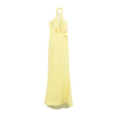 FOREVER UNIQUE ロングワンピース&ドレス イエロー 6 ポリエステル 100% ロングワンピース&ドレス