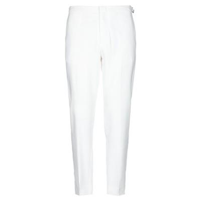 GAZZARRINI パンツ ホワイト 52 麻 60% / レーヨン 38% / ポリウレタン 2% パンツ
