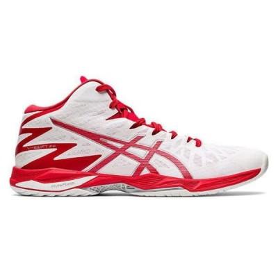 アシックス バレー、バスケ、ハンド シューズ  1053A018 WHITE/CLASSIC RED