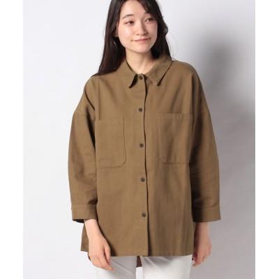 【ジャイロ】 コットンツイルBIGシャツ レディース チャイロ M JAYRO