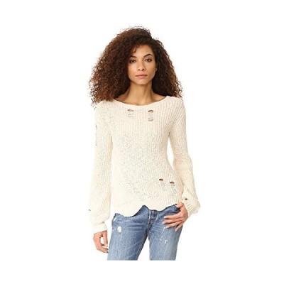 並行輸入品Pam & GelaレディースShredded Wavyスイープセーター US サイズ: M カラー: オフホワイト