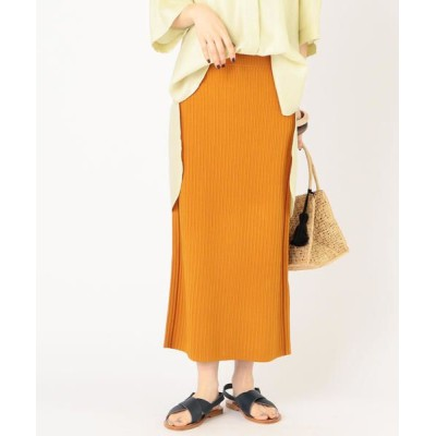 SHIPS for women/シップスウィメン Prefer SHIPS: リブ2WAYニットスカート ライトブラウン ONE SIZE