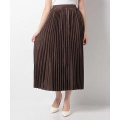 Melan Cleuge(メラン クルージュ)【Melan Cleuge women】薄手スウェードプリーツスカート