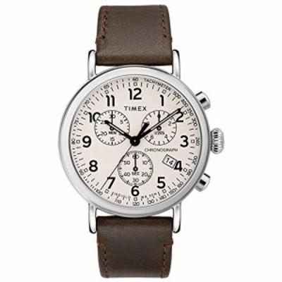 腕時計 タイメックス メンズ Timex Standard Chronograph Beige Dial Canvas Strap Men's Watch TW2T2100