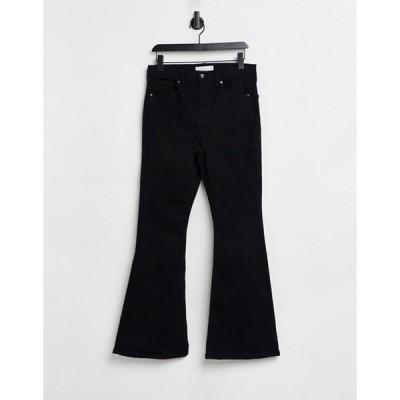トップショップ レディース デニムパンツ ボトムス Topshop Jamie flared jeans in pure black