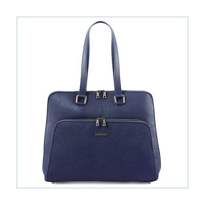 Tuscany Leather Lucca TL SMART business bag in soft leather for women Dark Blue並行輸入品