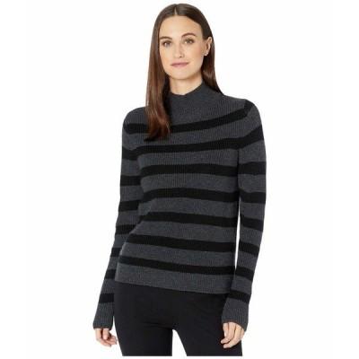 エイリーンフィッシャー ニット&セーター アウター レディース Merino Stripe Turtleneck Top Charcoal/Black