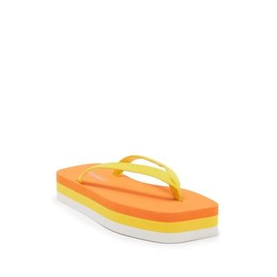 ジェフリー キャンベル レディース サンダル シューズ Surfin Flatform Thong Sandal ORANGE MULTI
