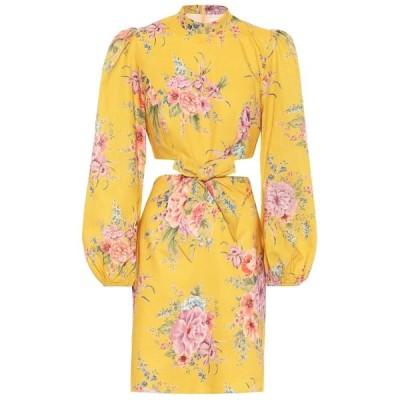 ジマーマン Zimmermann レディース ビーチウェア ワンピース・ドレス 水着・ビーチウェア Zinnia Floral Linen-Blend Dress Golden Floral