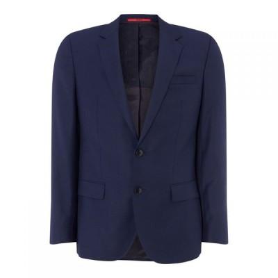 ヒューゴ ボス Hugo メンズ スーツ・ジャケット アウター Text Jacket Dark Blue