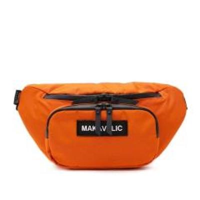 MAKAVELIC【セール30%OFF】マキャベリック ウエストバッグ MAKAVELIC TRUCKS CRESCENT WAIST BAG ウエストポーチ 斜めがけ カジュアル メンズ レディース 3108-10304 ORANGE