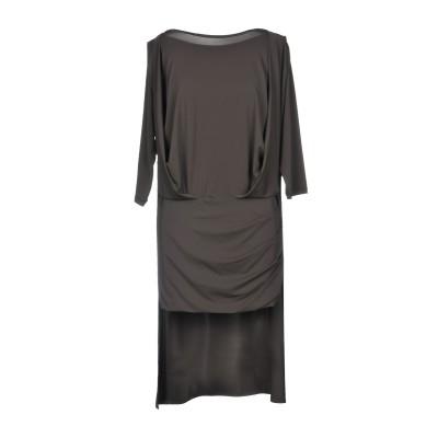 プレイン・スッド PLEIN SUD ミニワンピース&ドレス ダークブラウン 40 アセテート 75% / ナイロン 20% / ポリウレタン 5%