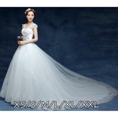 花嫁 結婚式ワンピース お嫁さん 豪華な ウェディングドレス 体型カバー aライン エレガントスタイル 大人の魅力 ロング丈ワンピ-ス