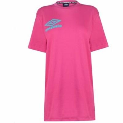 アンブロ Umbro レディース Tシャツ トップス Collider T Shirt Berry/Ceramic