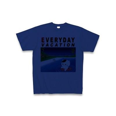 猫は毎日バケーション♪(DAY) Tシャツ(ロイヤルブルー)