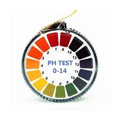Hofun pH試験紙0-14 pH、ロールタイプのpH0-14試験紙、 ph測定 水質検査キット 熱帯魚飼育 水質測定用 試験 [5m/巻]