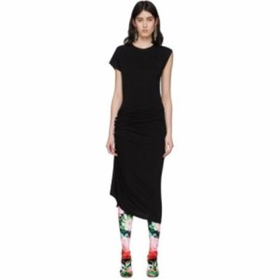 パコラバンヌ Paco Rabanne レディース ワンピース ワンピース・ドレス Black Gathered Jersey Dress Black