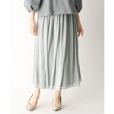 SUTSESO(スチェッソ) 【LIZA(リザ)】グロッシーギャザーロングスカート