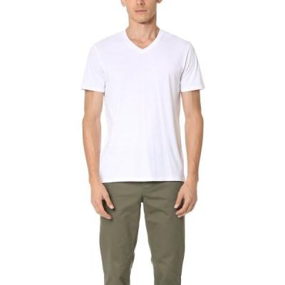 ヴィンス メンズ Tシャツ トップス Short Sleeve Pima V Neck Tee Optic White