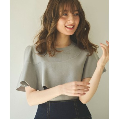 Noela / アシメフリルニット WOMEN トップス > ニット/セーター