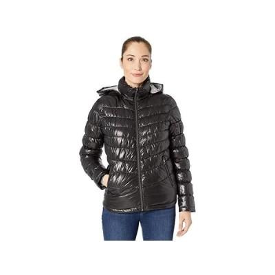 ケネスコール Hooded Packable Jacket レディース コート アウター Black