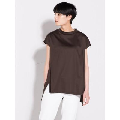 ラ エフ la f 【大人のための上質Tシャツコレクション】フレンチスリーブカットソー (ブラウン)