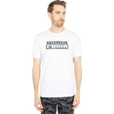 プーマ PUMA メンズ Tシャツ トップス Core Camo Graphic Tee PUMA White