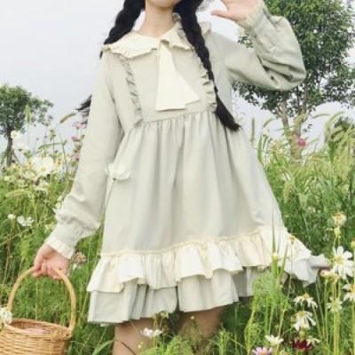 人形襟 ネクタイ 甘いドレス【M0291】
