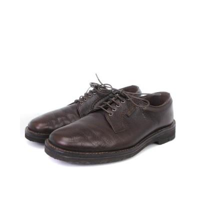 【中古】ジェオックス GEOX ビジネスシューズ レースアップ 外羽根 レザー YC10 茶 ブラウン 24 1/2 靴 メンズ 【ベクトル 古着】