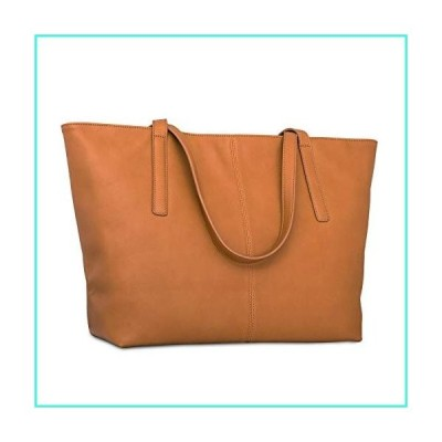 【新品】Handbag Shopper Tote Bag Women Brown - Expatri〓 - Big Shoulder Bag Vegan Leather(並行輸入品)