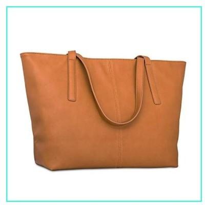 【新品】Handbag Shopper Tote Bag Women Brown - Expatri〓 - Big Shoulder Bag Vegan Leather(並行輸入品)