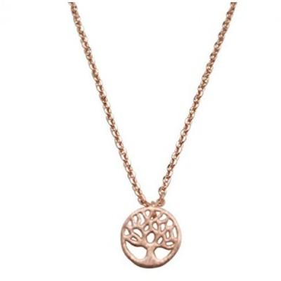 インポート・アクセサリー・ネックレス&ペンダント Tree Necklace Dainty Tree of Life Pendant Family Tree Necklace Little Tree (Rose Gold) 正規輸入品