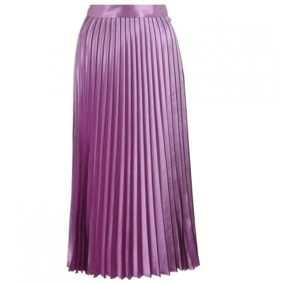 ヒューゴ ボス HUGO レディース ひざ丈スカート スカート high-shine midi skirt Pink