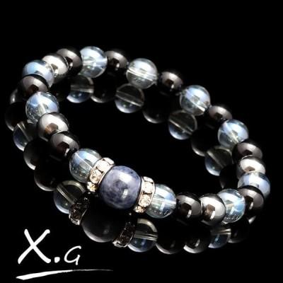 パワーストーン ブレスレット メンズ (X・G)オーラブレス サファイア10mm ギフト