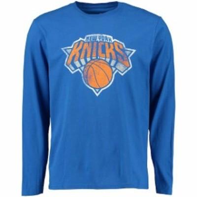 Fanatics Branded ファナティクス ブランド スポーツ用品  New York Knicks Royal Distressed Long Sleeve T-Shirt