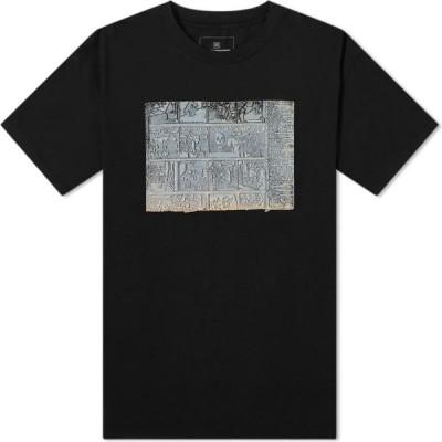ユニフォームエクスペリメント Uniform Experiment メンズ Tシャツ トップス Fin De Copenhague Relief Tee Black