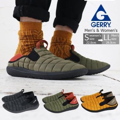GERRY ジェリー スリッポンスニーカー レディース メンズ アウトドア靴 2WAY モックシューズ 軽量 難燃 黒 黄 カーキ 歩きやすい痛くない 4-5502