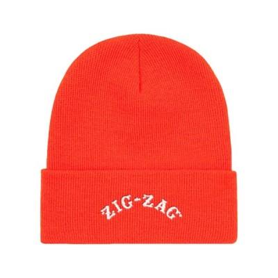 """""""Zig Zag"""" Official Embroidered Logo Beanie Cap(Orange-オレンジ)-""""ジグザグ"""" オフィシャル 刺繍ロゴ ビーニーキャップ[ニットキャップ]"""