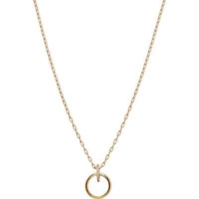 """ナドリ AVA NADRI レディース ネックレス ジュエリー・アクセサリー 18k Gold-Plated Cubic Zirconia Ring Pendant Necklace, 16"""" + 1"""" extender Gold"""
