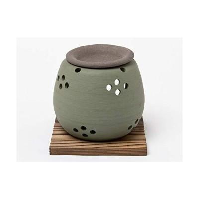 茶香炉 緑泥 松皮 エ1212