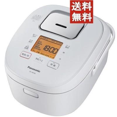 【3個セット】 パナソニック IH炊飯ジャー(5.5合炊き) ホワイト SR-HB100-W [SRHB100W] 10倍P