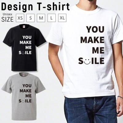 Tシャツ メンズ 半袖 ブランド ユニセックス ニコちゃん スマイル にこちゃん ロゴプリント かわいい おしゃれ プルオーバー クルーネック プリントTシャツ